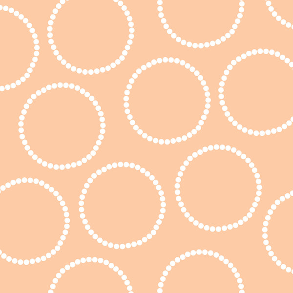 Soft Peach with Circles Photo Background