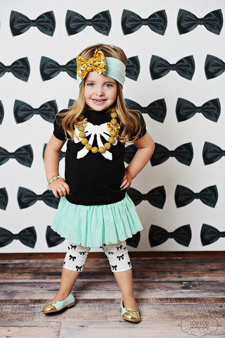 Black Bow Affair Photo Backdrop