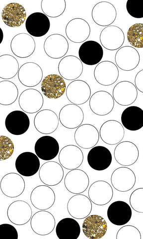Retro Dot Gold Photo Backdrop