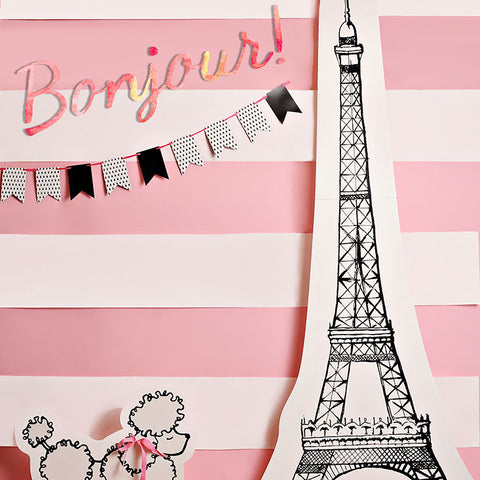 Bonjour Photo Backdrop