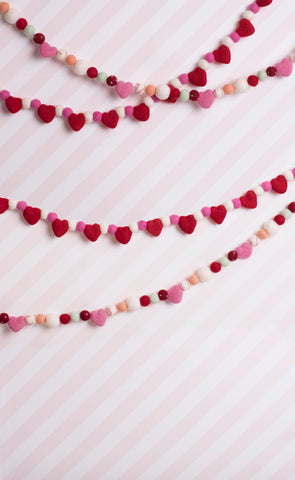 Valentines Bunting Photo Backdrop
