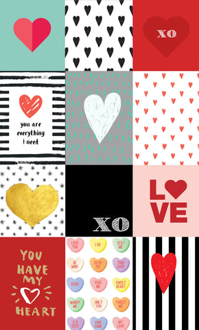 Valentine Squares Photo Backdrop