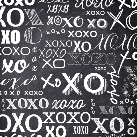 XOXO Chalkboard Photo Background
