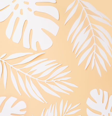 Yellow Tropic Photo Backdrop