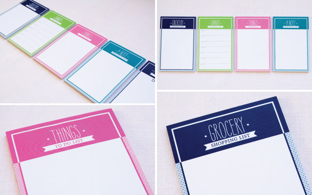 List Notepads from Tickled Peach Studio | Sweet Paper Goods & Gifts