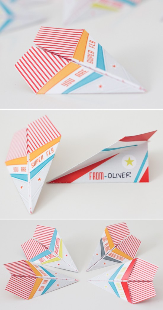 Paper Airplane Valentine | Source One Charming Party