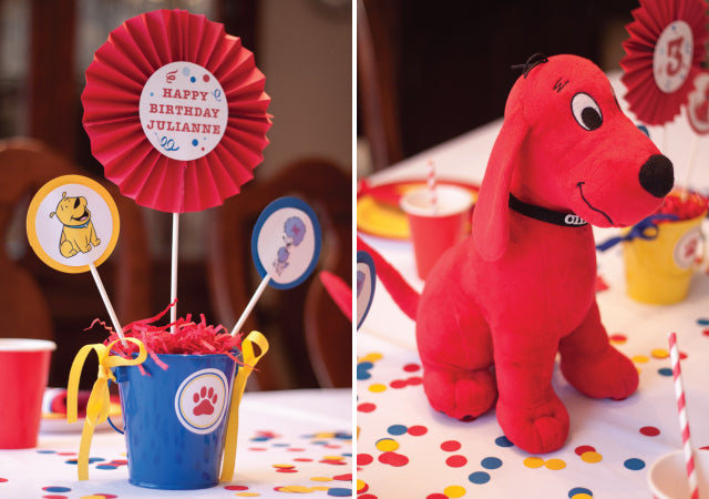 Clifford The Big Red Dog Birthday Party by Tickled Peach Studio