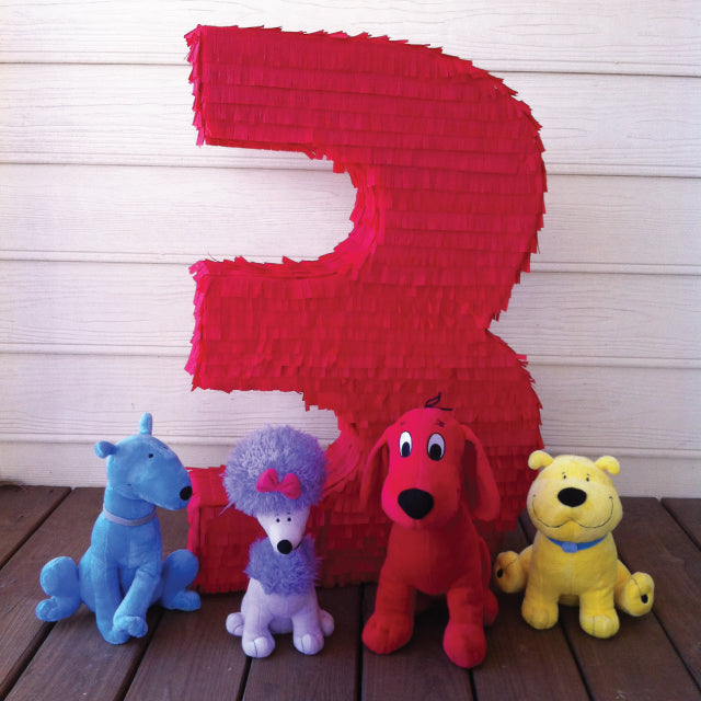 Big Red Three Pinata by Tickled Peach Studio