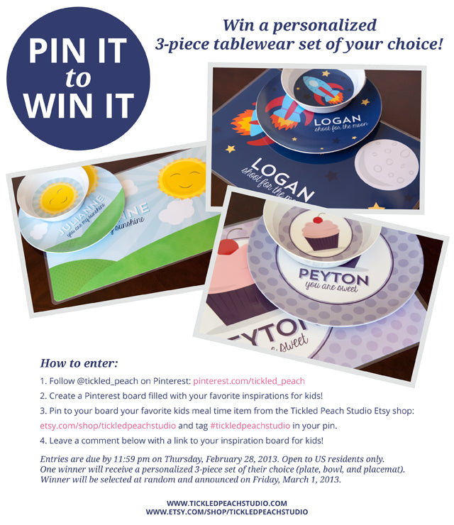 Pin It to Win It Contest #tickledpeachstudio