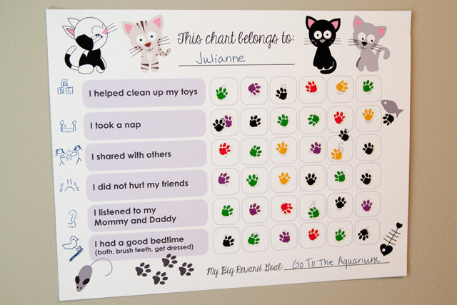 Free Printable Behavior Reward Chart | Tickled Peach Studio