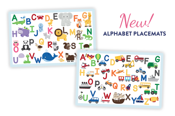NEW! Alphabet Placemats by Tickled Peach Studio