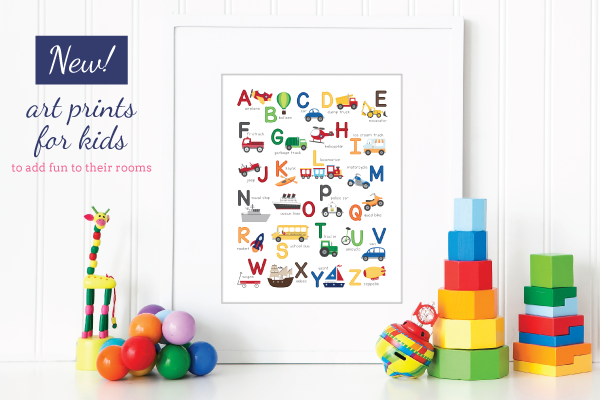 NEW! Animal Alphabet Art Print by Tickled Peach Studio