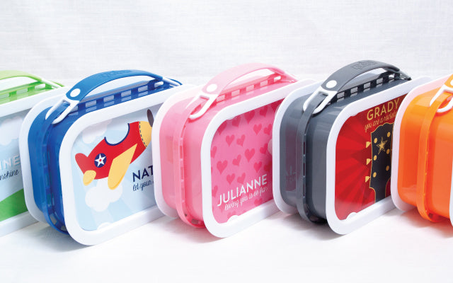 Personalized Lunchboxes | by Tickled Peach Studio