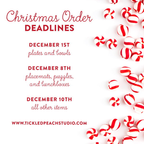 Christmad Order Deadlines