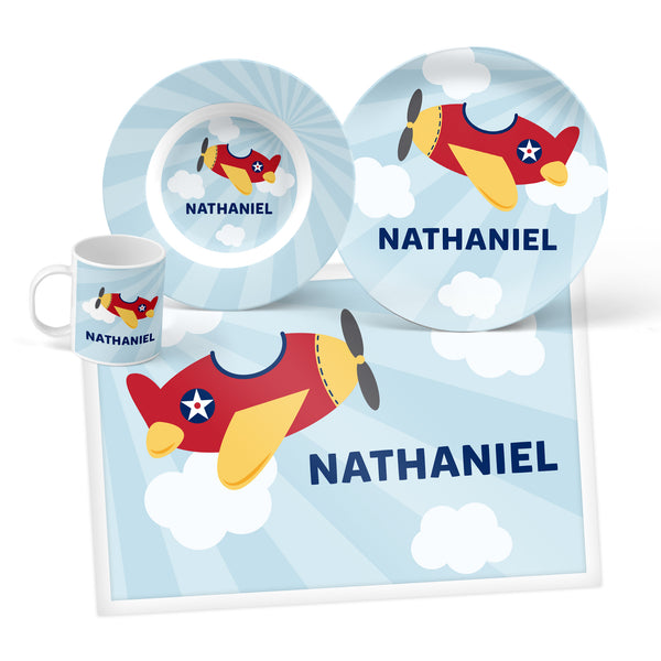 Airplane Personalized Mealtime Set