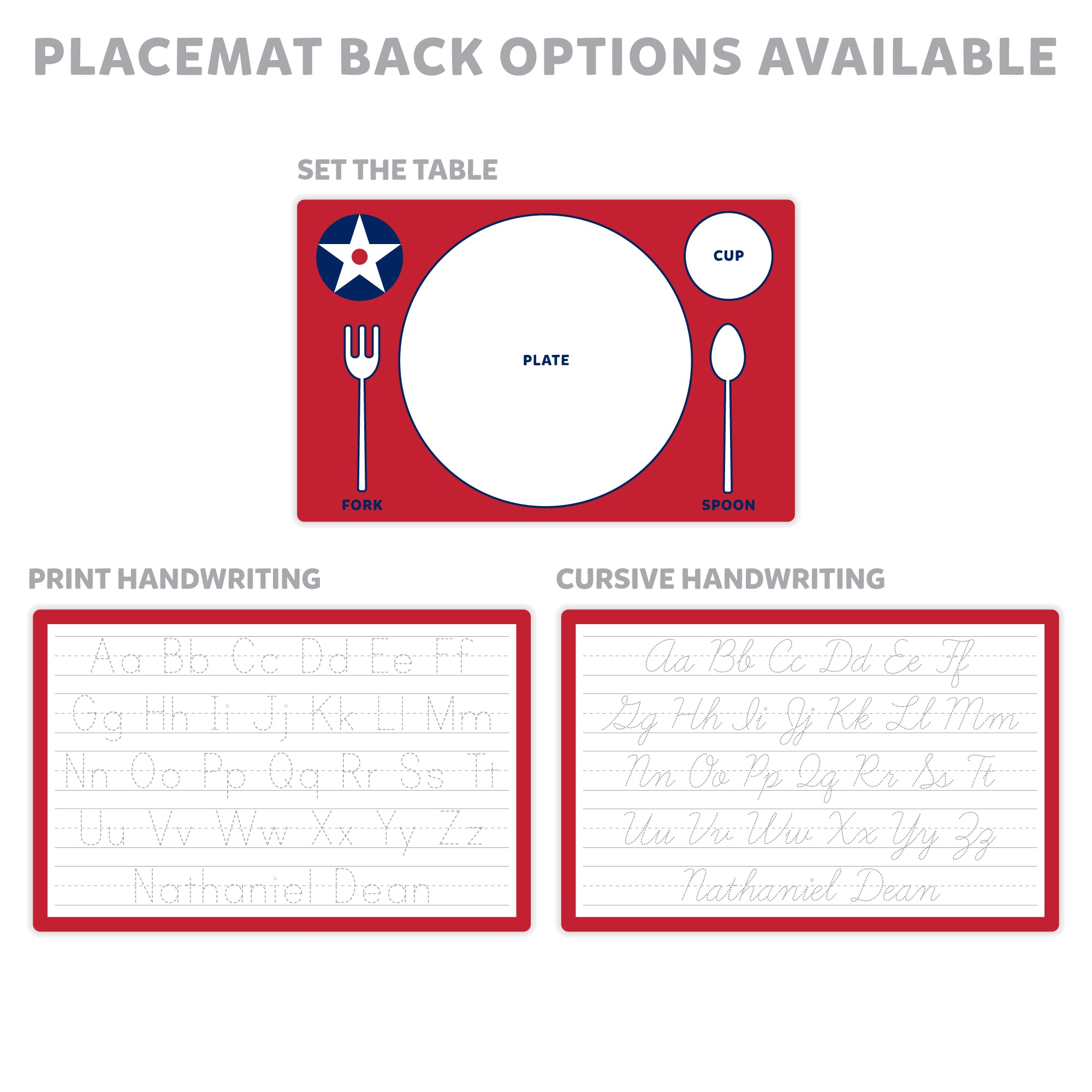 Airplane Personalized Placemat