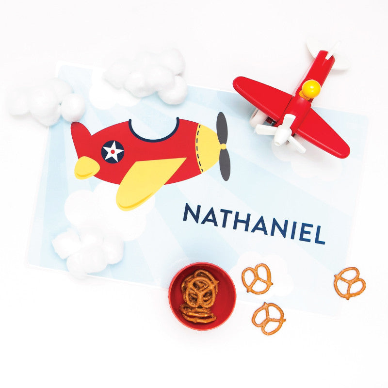 Personalized Kids Placemat - Airplane