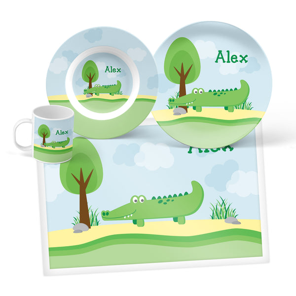 Alligator Personalized Mealtime Set