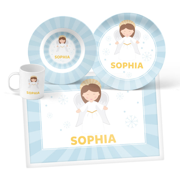 Angel Personalized Mealtime Set