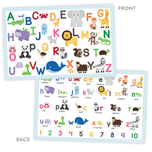 Animal Alphabet Placemat