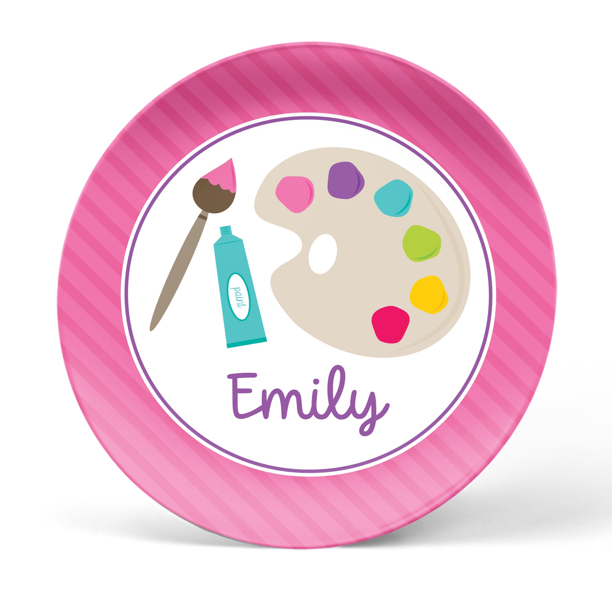 Art Party Personalized Plate