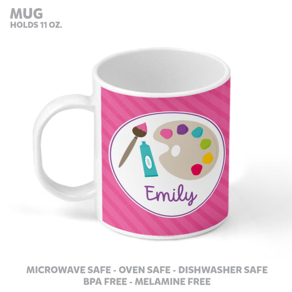 Art Party Personalized Mealtime Set