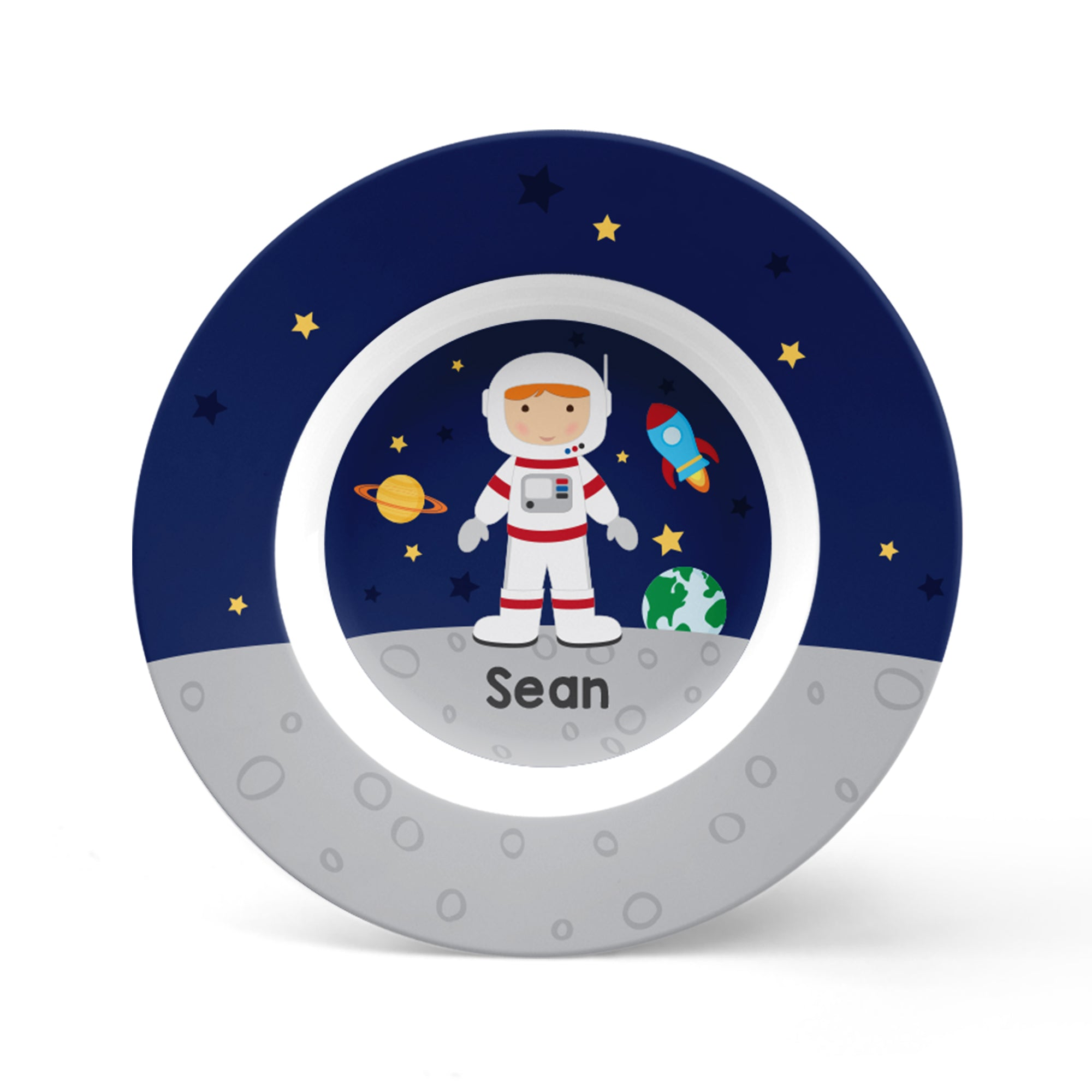 Astronaut Boy Personalized Plate