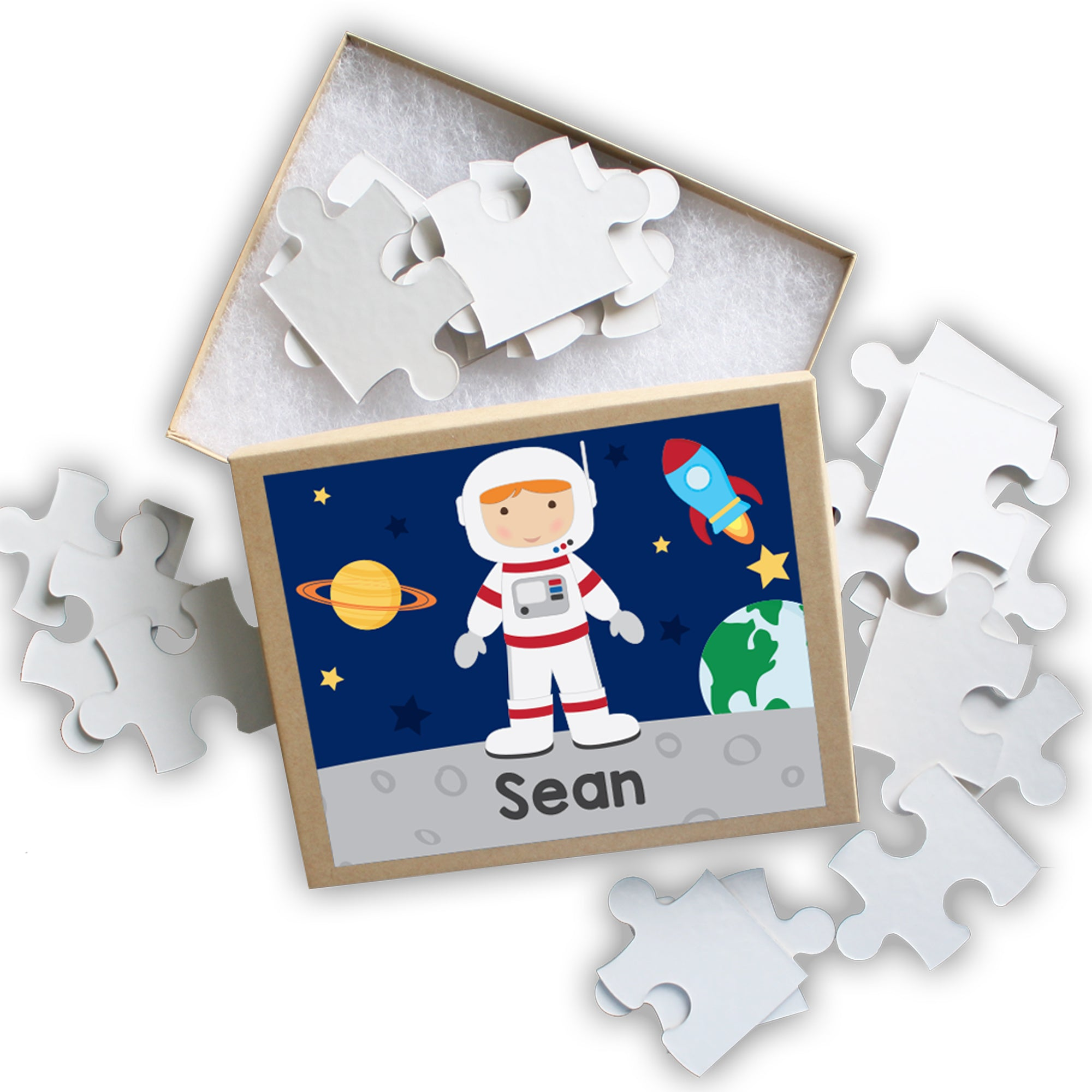 Astronaut Boy Personalized Puzzle