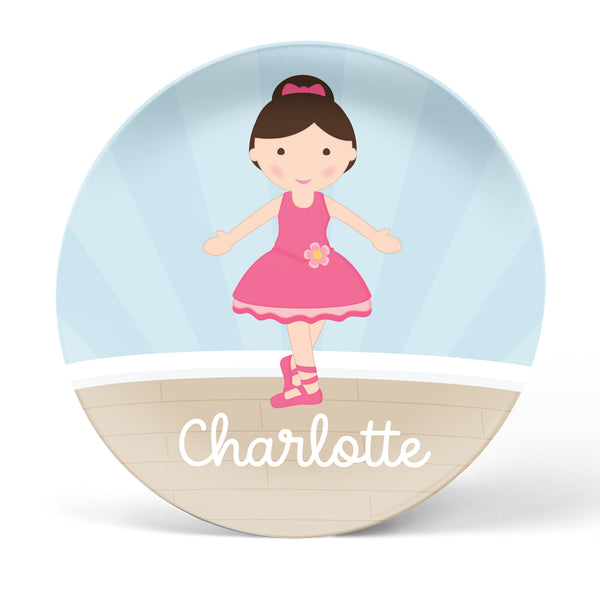 Ballerina Personalized Plate