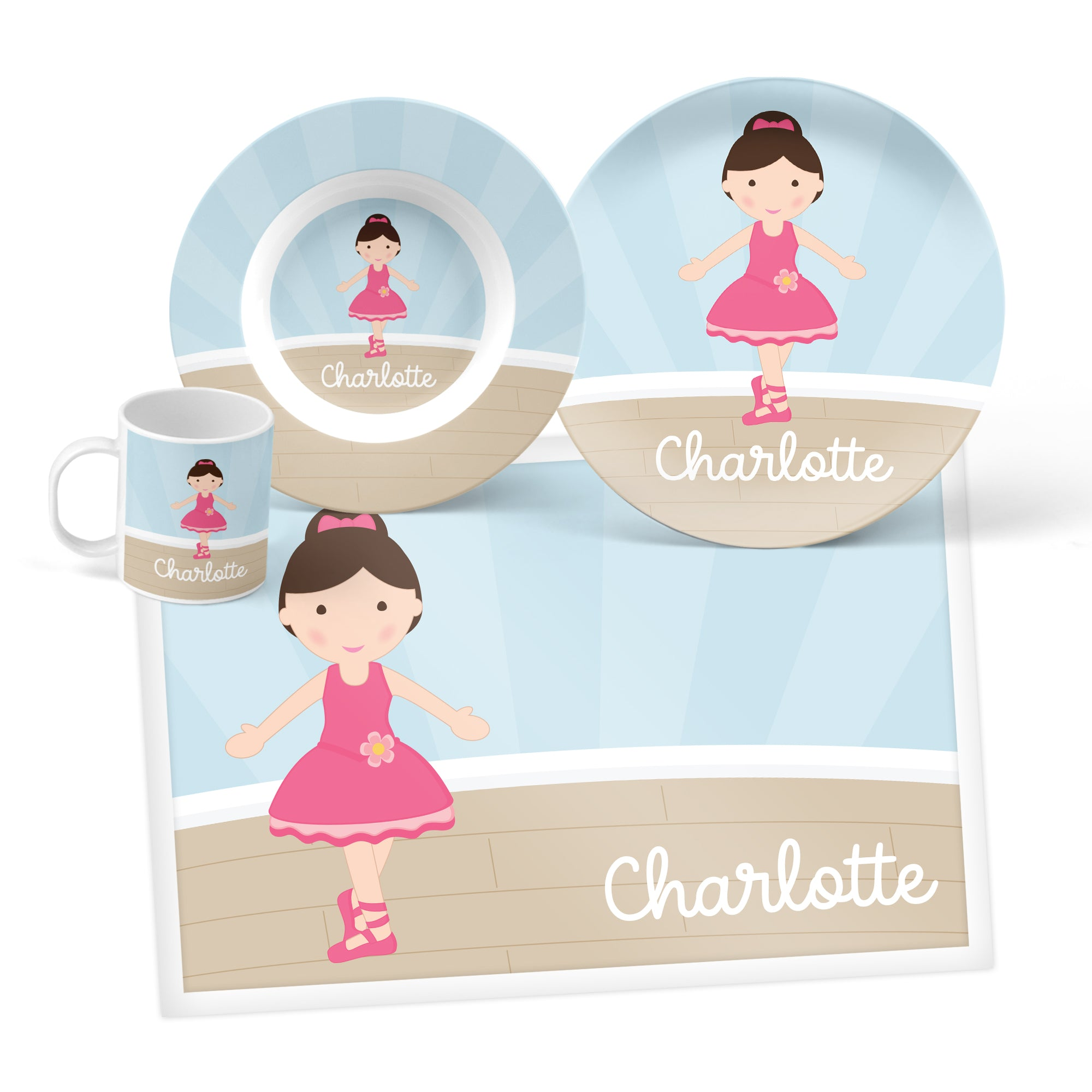 Ballerina Personalized Mealtime Set