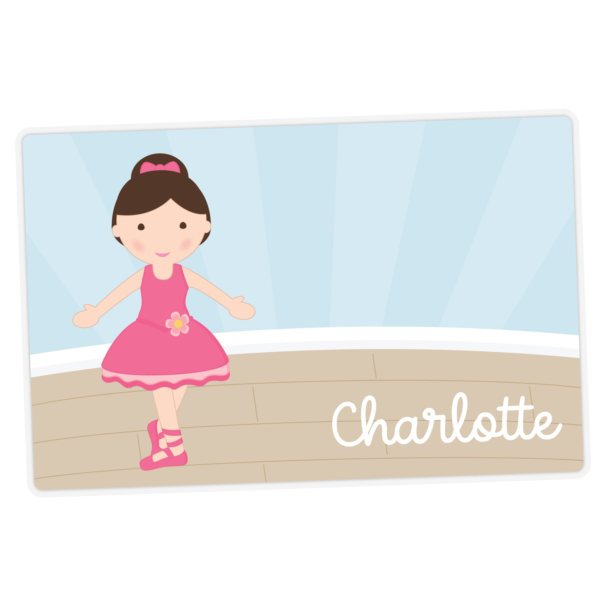 Ballerina Personalized Placemat