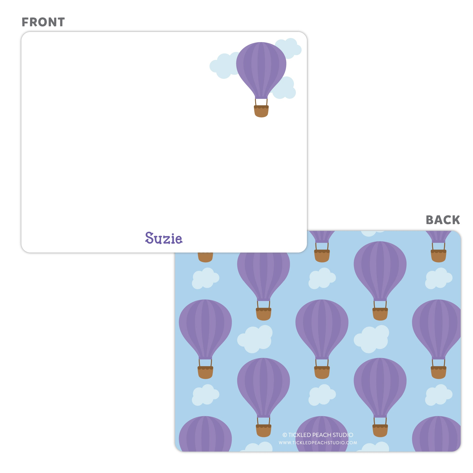 Hot Air Balloon Note Cards