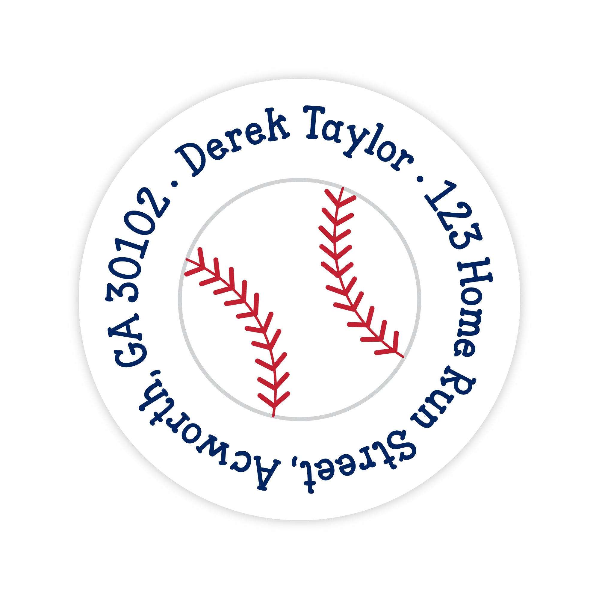 Baseball Address Labels