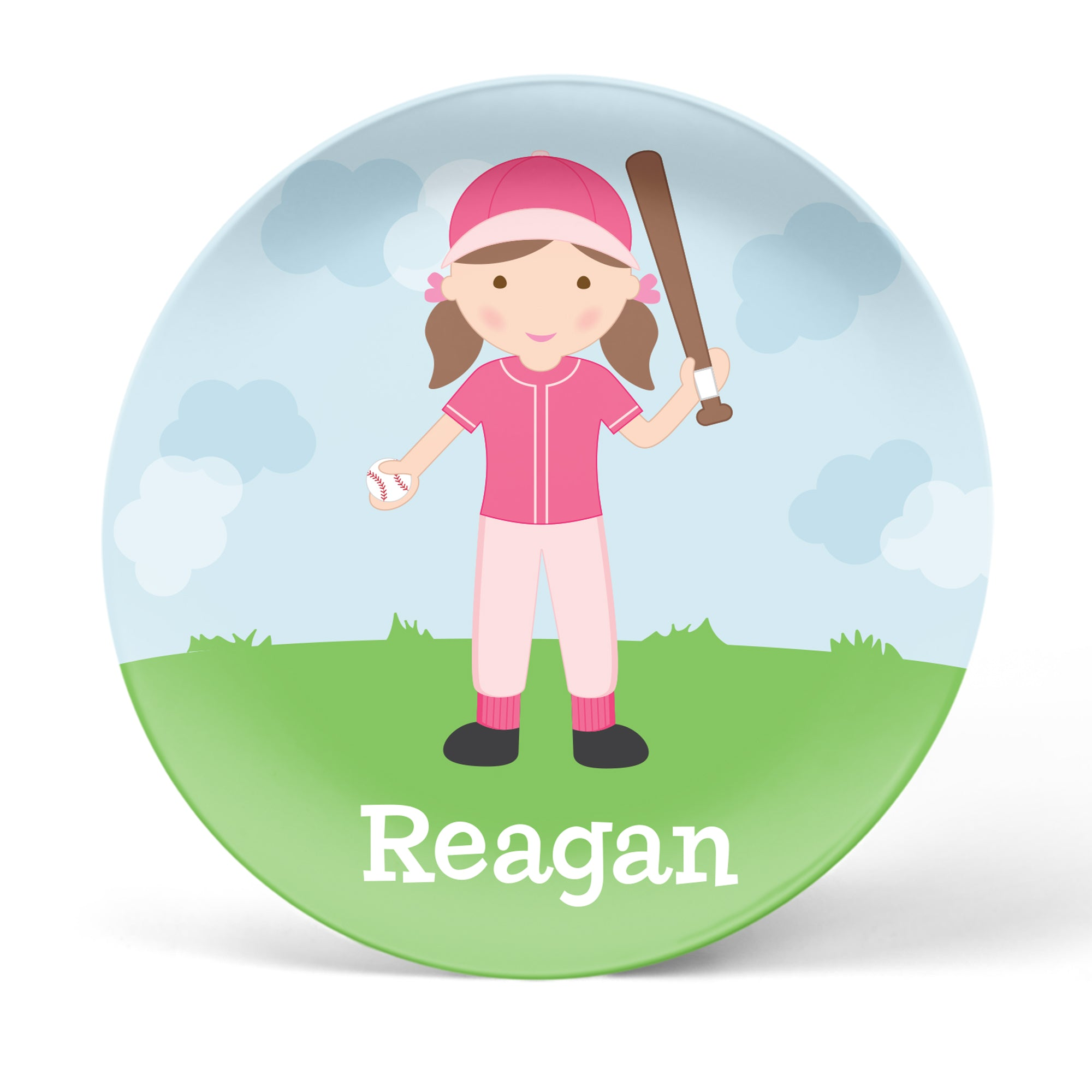 Baseball Girl Personalized Plate