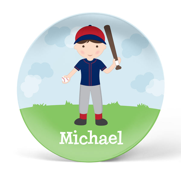 Baseball Boy Personalized Plate
