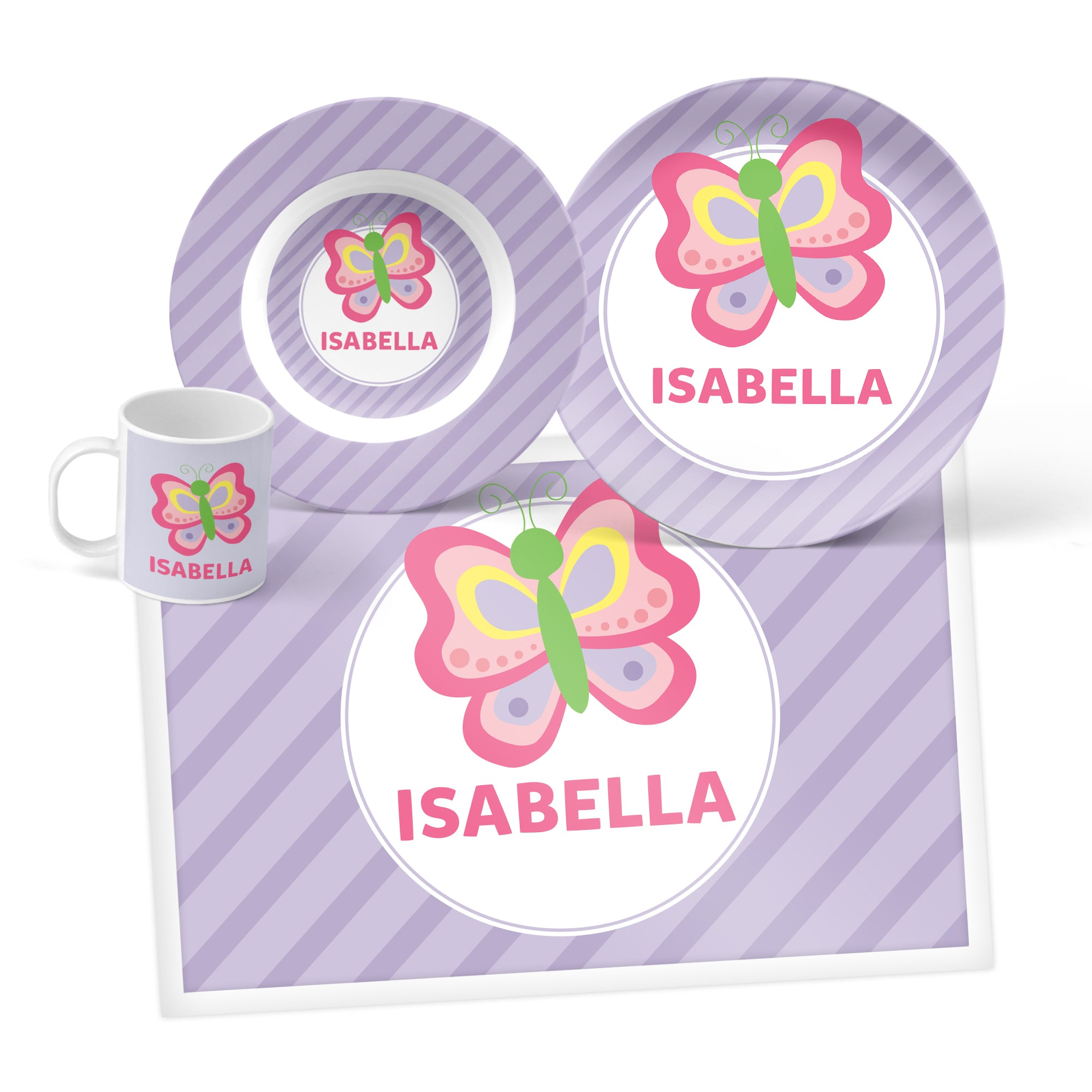 Butterfly Personalized Mealtime Set