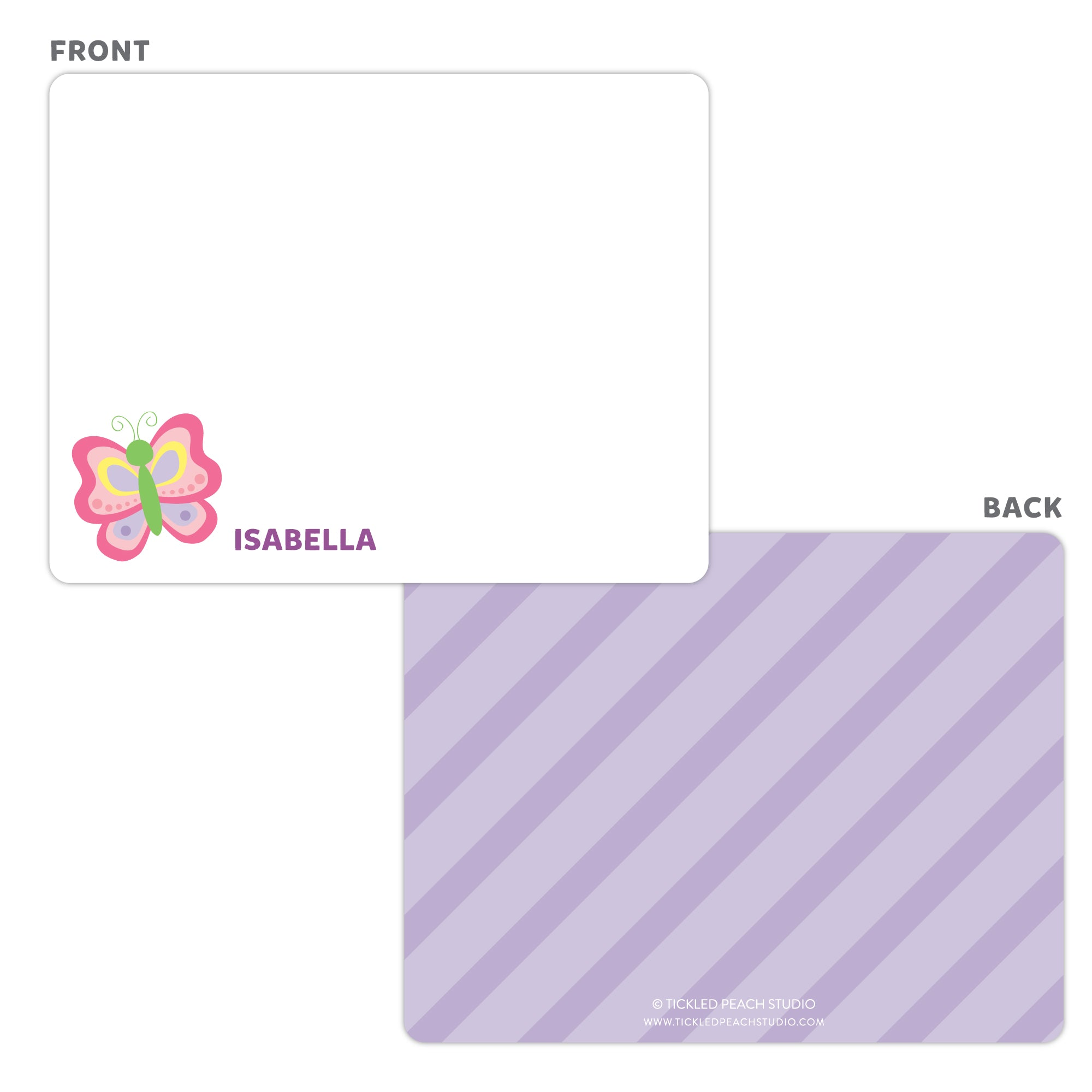 Butterfly Note Cards - Thank You Cards