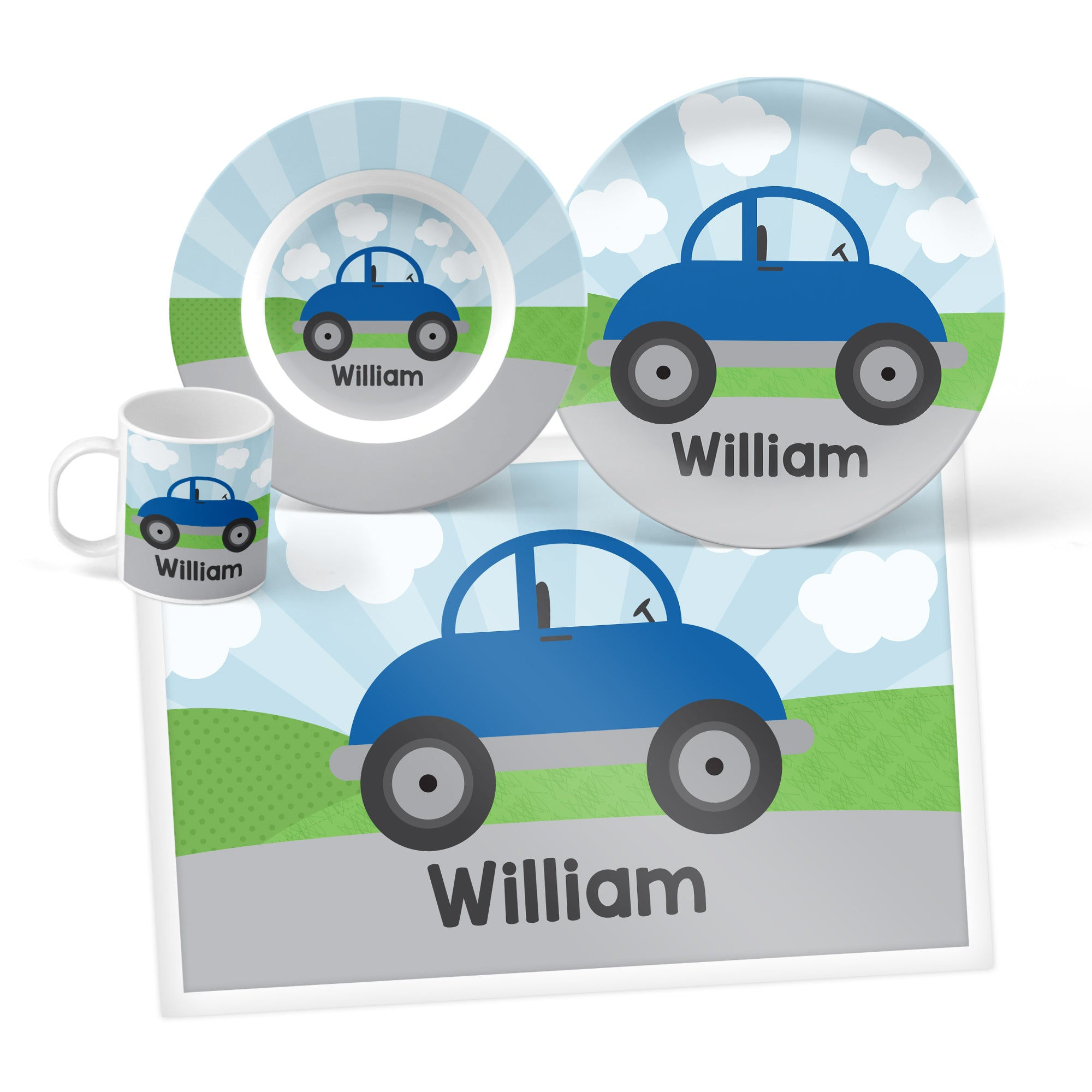 Car Personalized Mealtime Set