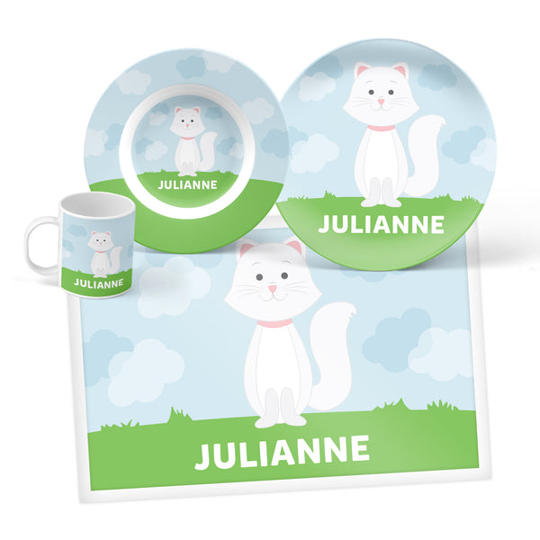 Cat Personalized Mealtime Set