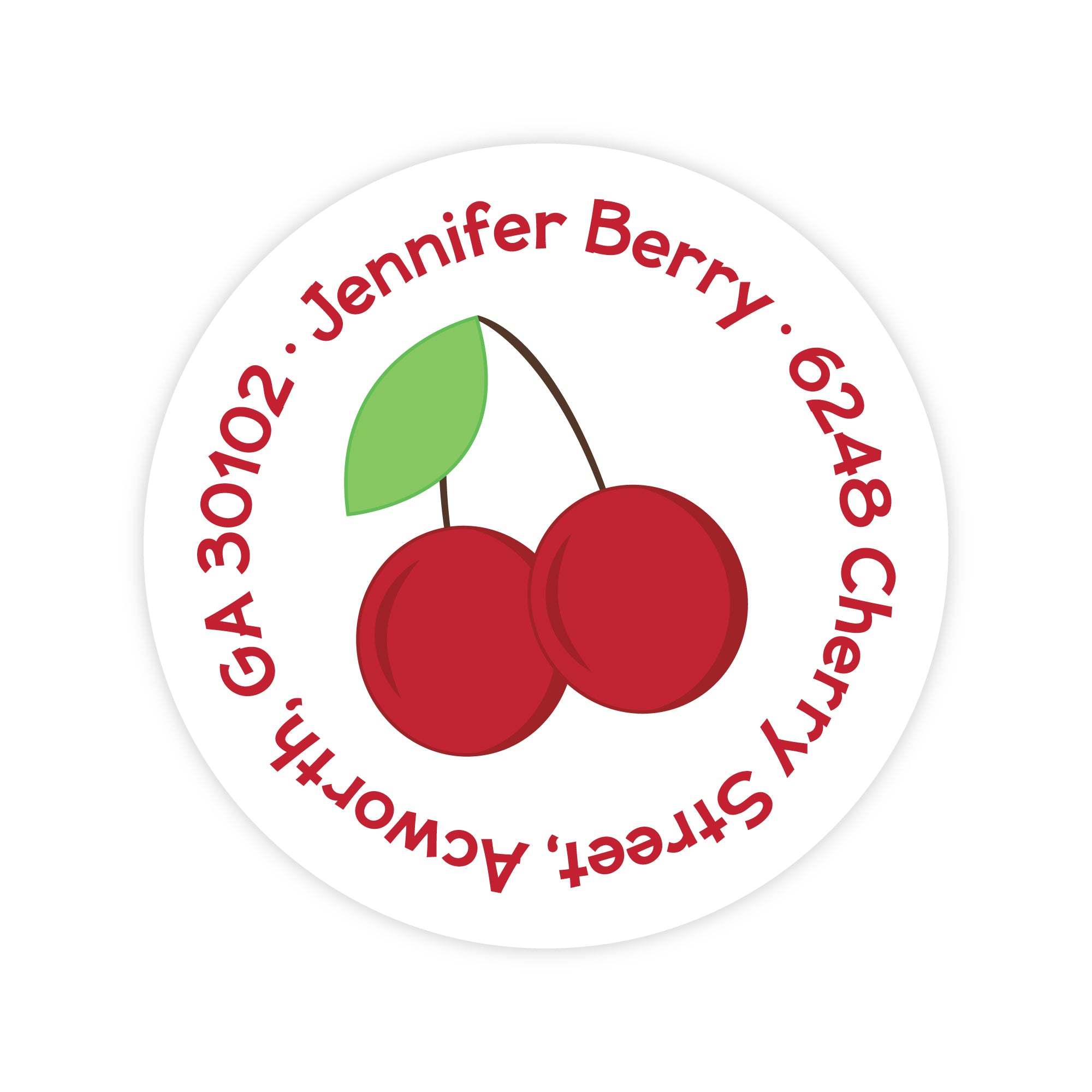 Cherry Address Labels