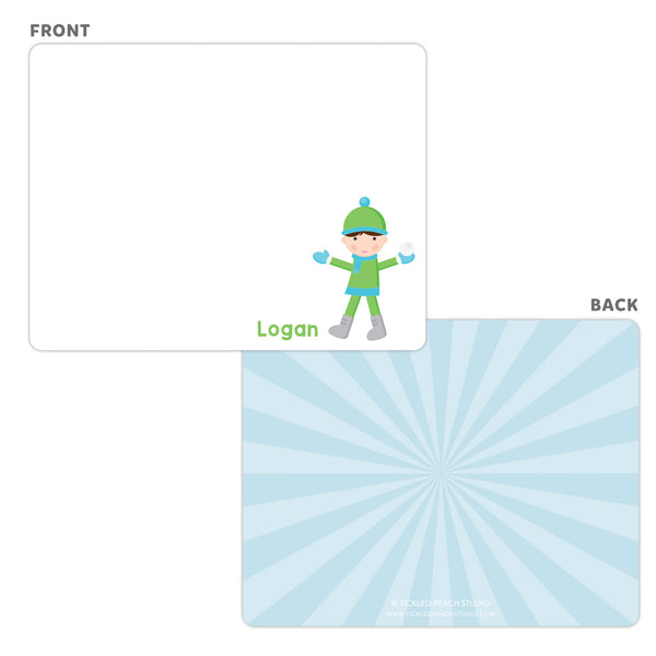 Snowball Boy Note Cards