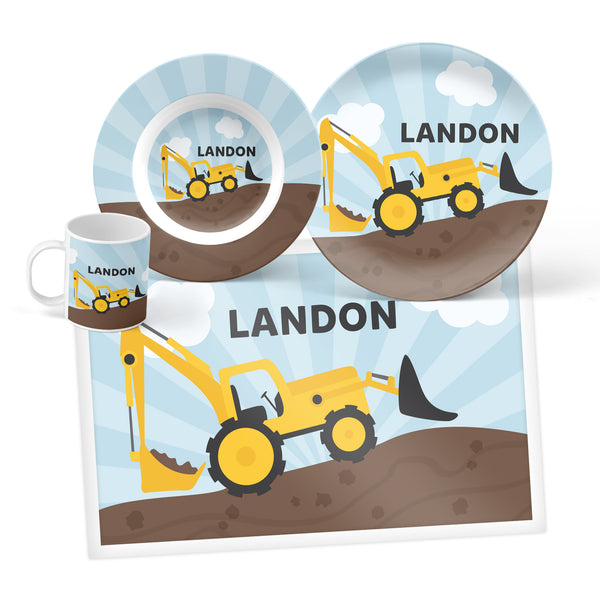 Construction Personalized Mealtime Set