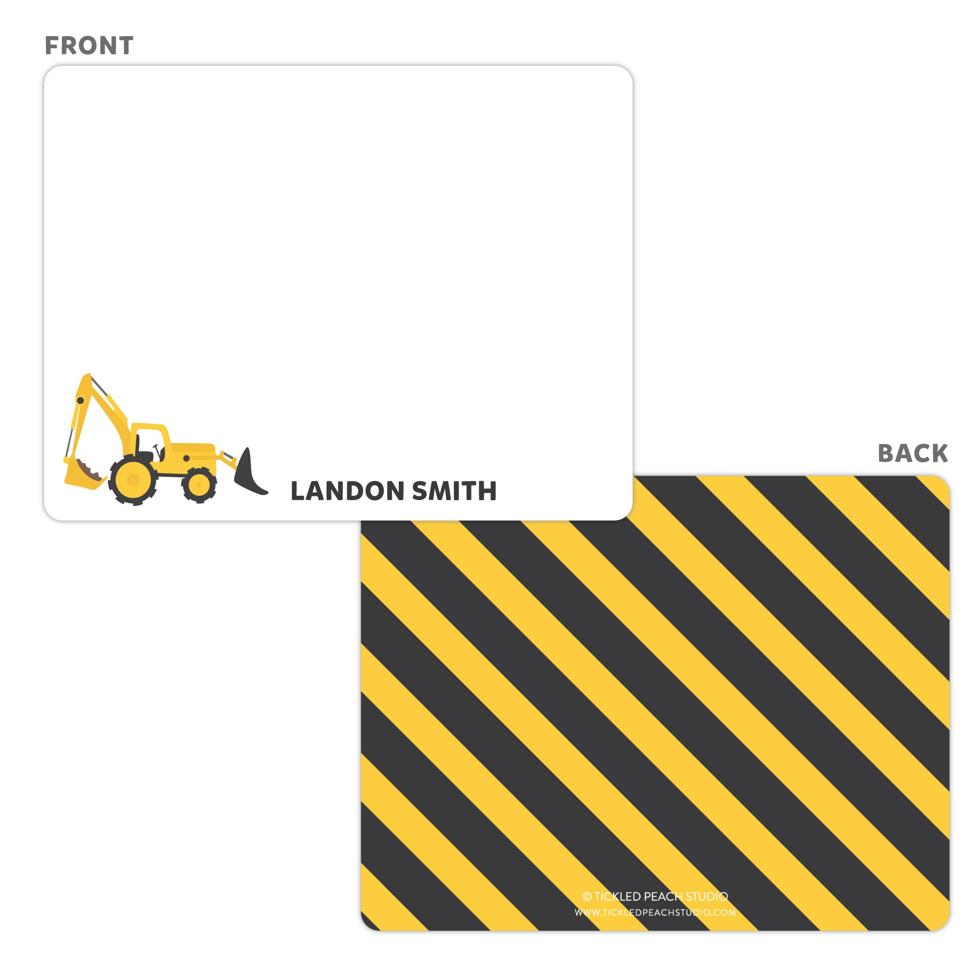 Construction Note Cards