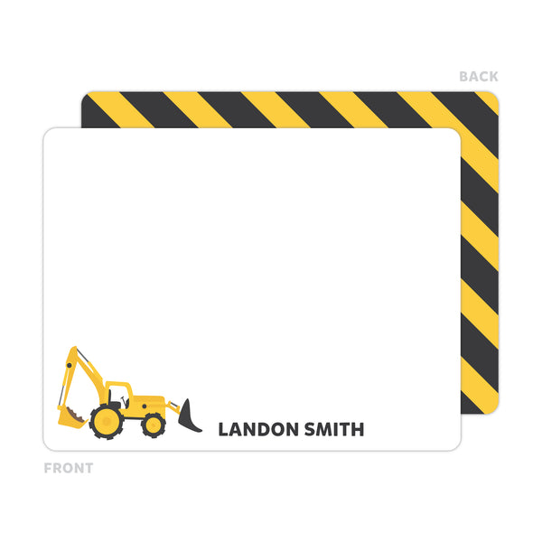 Construction Note Cards - Thank You Cards