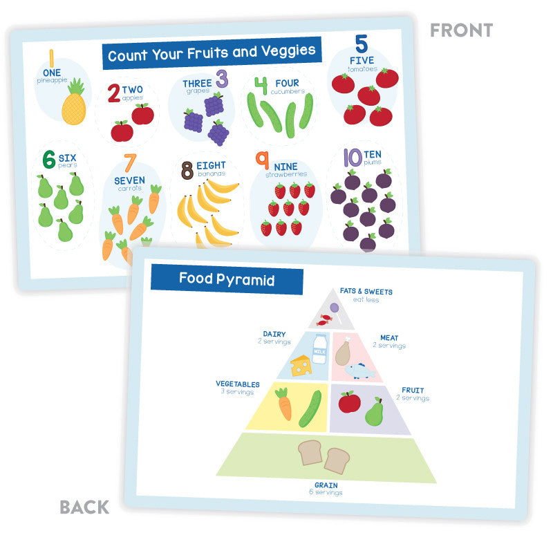 Activity Placemat – Counting and Food Pyramid