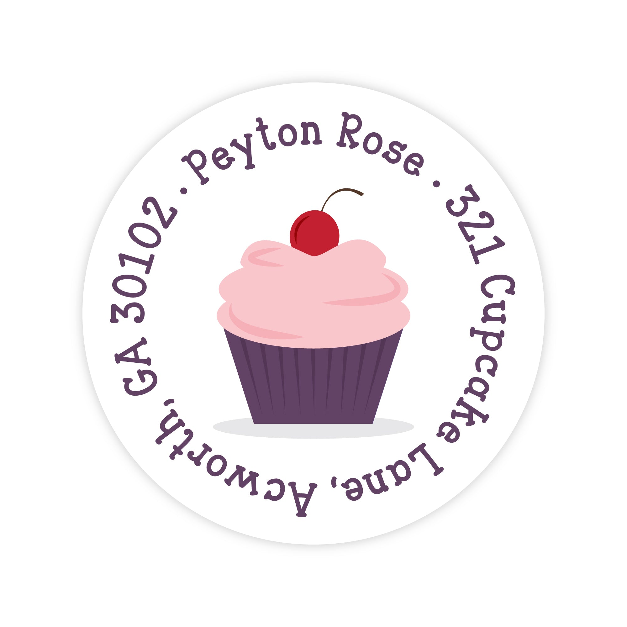 Cupcake Address Labels