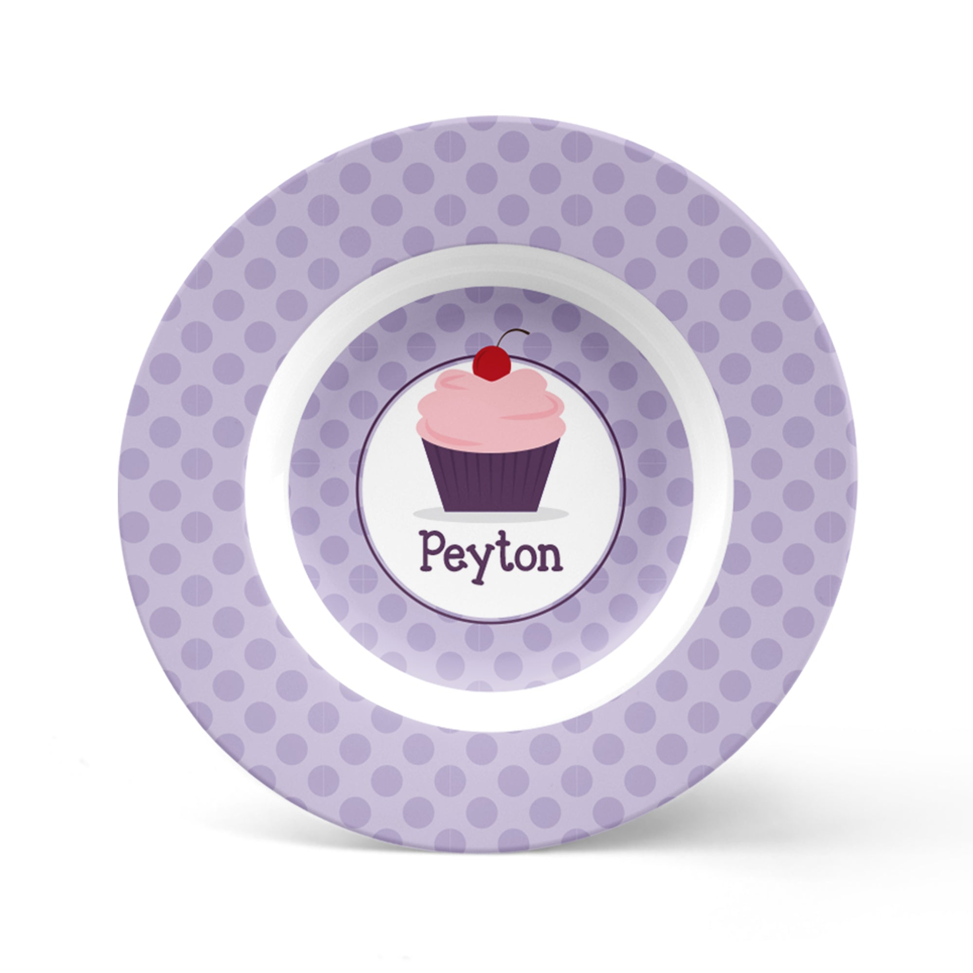 Cupcake Personalized Plate