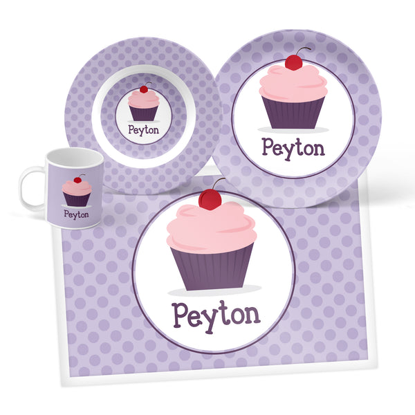 Cupcake Personalized Mealtime Set