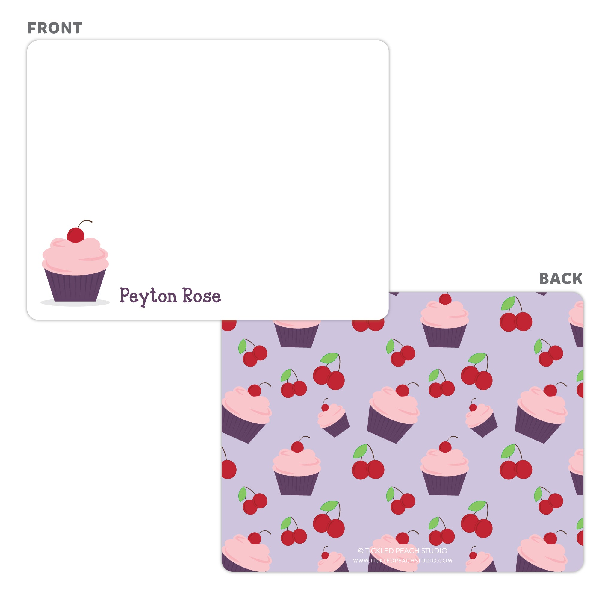 Cupcake Note Cards - Thank You Cards