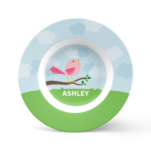 Cute Bird Personalized Plate